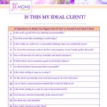 Questions to Help You Decide If You've Found Your Ideal Client - Printable www.VAMomsNetwork.com
