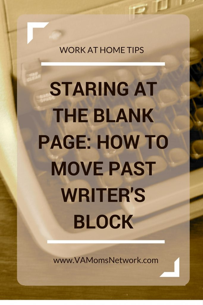 Staring at the Blank Page: How to Move Past Writer's Block